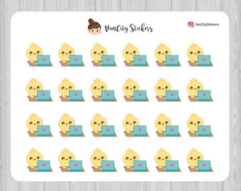 Easter Chick Working Stickers