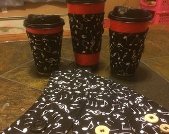 Musical notes Coffee sleeve