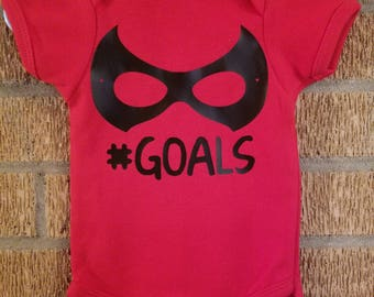 Baby Boy's Red Superhero Mask Onesie