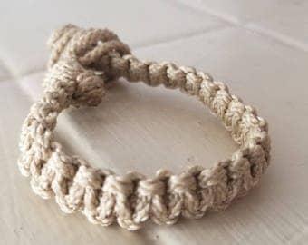 Square Knot Macrame Bracelet// Macrame Jewelry