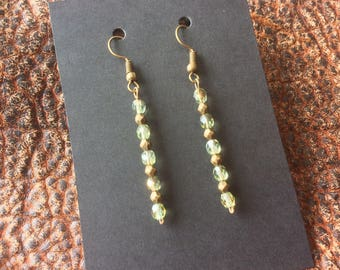 Czech Glass & Brass Earrings