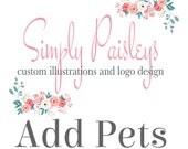 ADD Pets to any custom portrait