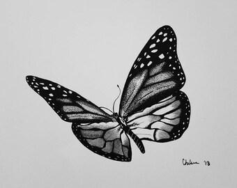 Butterfly Pen & Ink Print