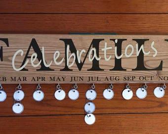 Family Celebrations or Birthdays Oak Plaque