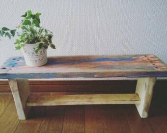 Shabby Chic Bench Style Shelf