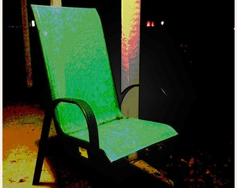 "Limited Digital Print: ""Porch Chair At Night"""