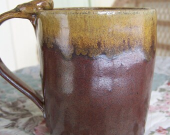 Handmade Pottery Mug Coffee Mug  Wheelthrown Rust Brown Mug Wheel Thrown Mug Pottery Mug Handmade Pottery Mug Ceramic Coffee Mug Natural