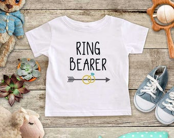 Ring Bearer arrow Wedding Rings Shirt - Baby bodysuit or Toddler Shirt or Youth Shirt