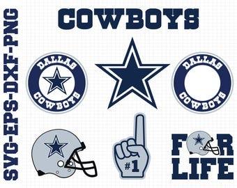 Dallas Cowboys Svg, cut files, print files, clipart, vector, T-shirt design, football logo, circut, silhouette cameo