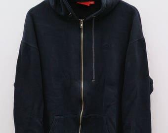 SUPREME Small Logo Black Vintage Hoodies Sweater Sweatshirt Size XL
