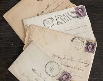 Antique World War I Soldiers Letters Circa 1917-1919