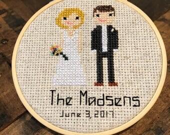 "Wedding Cross Stitch - 4"""