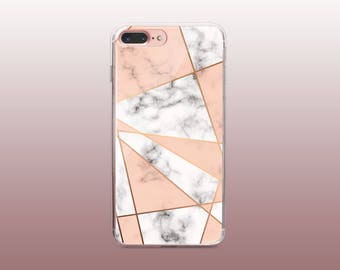 Marble Clear TPU Phone Case for iPhone 8- iPhone 8 Plus - iPhone X - iPhone 7 Plus-iPhone 7- iPhone 6 - iPhone 6S - iPhone SE - Samsung S8