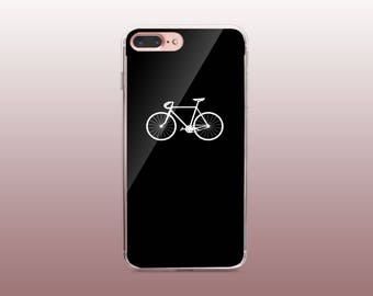 Bicycle Black & White Clear TPU Phone Case for iPhone 8- iPhone 8 Plus - iPhone X - iPhone 7 Plus-iPhone 7-iPhone 6-iPhone 6S-Samsung S8