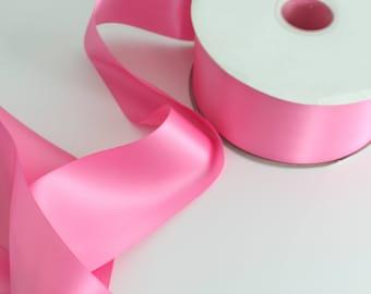 Bubblegum Satin Pink Ribbon By The Yard / Wholesale Ribbon By The Yard / Ribbon By The Yard / Bridal Ribbon / Craft Ribbon / Bubblegum Pink