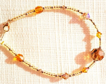 Bracelet Brown and ochre