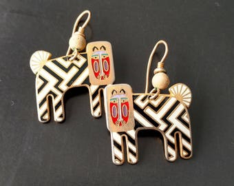 Vintage Laurel BURCH ZZZebra Earrings