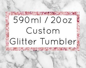 590ml Glitter Tumbler