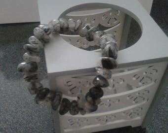 Tourmaline Crystal bracelet large chips beads