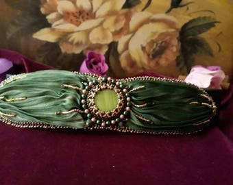 Shibori Green forest bracelet