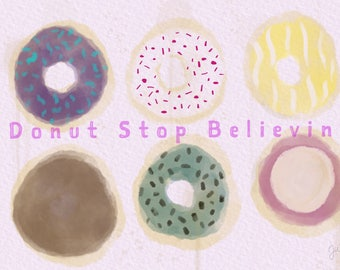 Hand drawn donuts