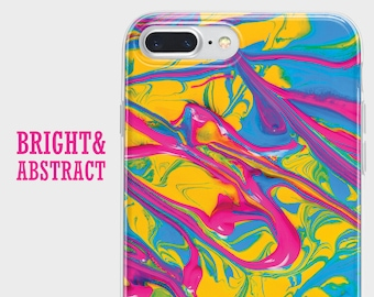 Abstract colorful phone case, Samsung a5 case, Galaxy s7 case, iPhone 8 case, LG g6 case, HTC 10 case, Huawei p9 case, iPhone X case