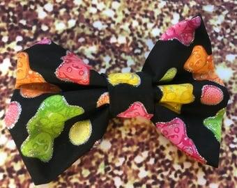 Gummy bear sparkle bow