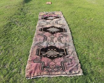 Made in 1955, Pink runner rug, vintage runner rug, Free Shipping, 4.4 x 15.3 ft. hall rug, vintage area rug, antique rug, rustic rug, MB608