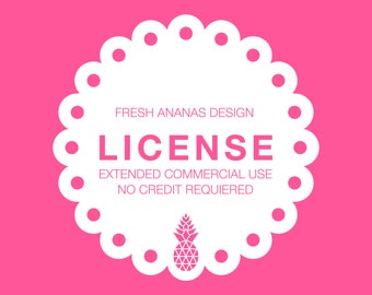 License: Extended Commercial Use, No Credit Required - valid for 1 graphic set - for up to 1000 products or up to 200 yards of fabric