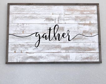 Scroll gather sign