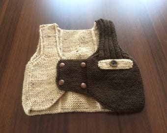 Handmade 12/24 Months Baby Boy Vest