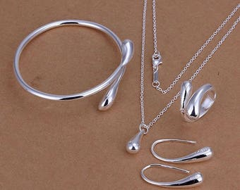 925 Silver Plated Jewelry Set