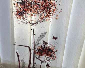 Glass art fused glass and copper panel.