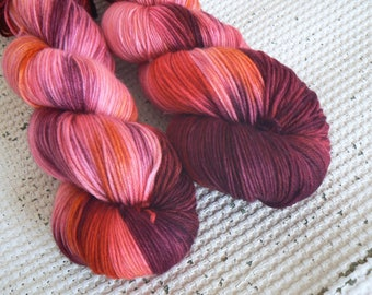 OOAK - Hand Dyed Luxury Sock Yarn - Merino Cashmere Nylon