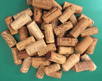 x50 Used Wine Corks -Ideal for craft - Weddings Decorations - CorkBoard