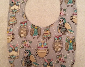 Owl Baby Bibs (Small Owls)