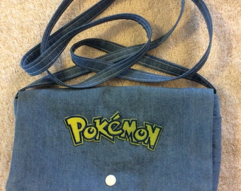 Pokemon Denim Over the Shoulder Purse