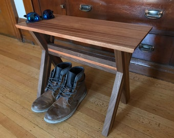 African Mahogany/Walnut Bench