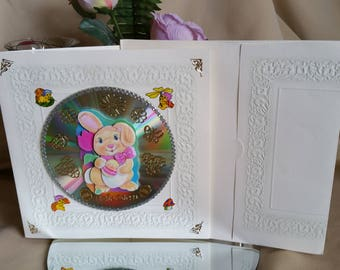 3d Greeting Card Happy Easter