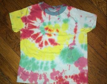 Rainbow Swirly Tie Dye Kids T-Shirt