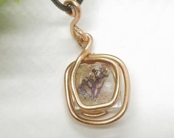 Wire Wrapped Purple Coral Gem