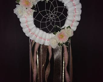 Diaper wreath dreamcatcher