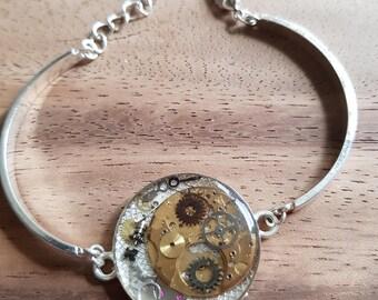 Steampunk watch COG bracelet