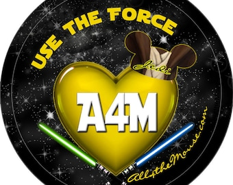 All 4 the Mouse Star Wars Buttons