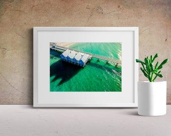 Jetty Print | Digital Download | Sunset Print | Sunset Wall Art | Ocean Print Art | Instant Download | Home Decor | Bedroom Decor