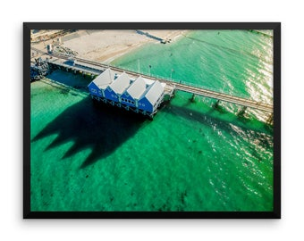 Jetty Print | Wall Art | Drone Photography | Ocean landscape | Framed Poster | Gift Idea | Sunset Wall Art
