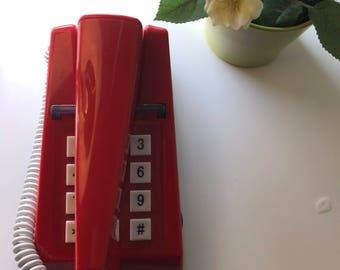 Vintage Telephone| Steepletone 1975 |Red |As New
