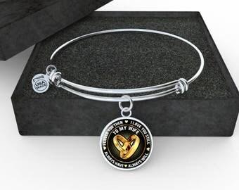 I Love You Bangle Bracelet