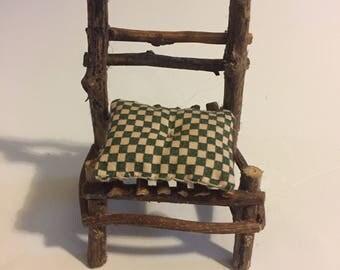 Green Checkered Chair
