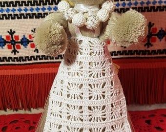 handmade doll made of yarn